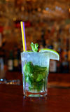 Cocktail mohito with mint and lime Royalty Free Stock Image