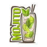 Cocktail Mojito ilustração stock