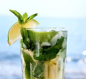 Cocktail mojito ice lemon Royalty Free Stock Image