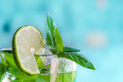 Cocktail mojito with mint and white rum Royalty Free Stock Image