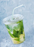 Cocktail mojito in plastic glass Stock Image