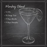 Cocktail Monkey Gland on black board Royalty Free Stock Photography