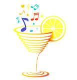 Cocktail and music Stock Image