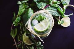 Cocktail não alcoólico de Mojito fotos de stock