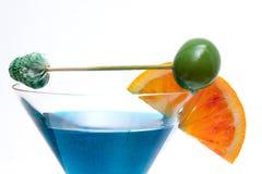 Cocktail na base de Curaçao fotos de stock royalty free