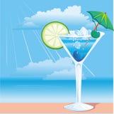 Cocktail na praia Imagem de Stock Royalty Free
