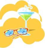 Cocktail na praia ilustração do vetor