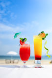Cocktail na praia Imagens de Stock Royalty Free