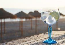 Cocktail na praia Fotografia de Stock