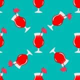 Cocktail naadloos patroon Royalty-vrije Stock Afbeeldingen