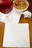 Cocktail Napkin Ideas Royalty Free Stock Photo