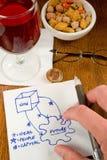 Cocktail Napkin Ideas Stock Photo