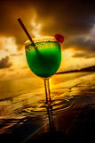 Cocktail near the swimming pool Stock Photography