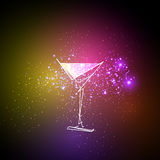 Cocktail neon design menu background Stock Photography