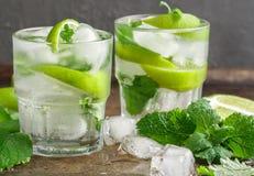 Cocktail o limonata di Mojito Fotografia Stock