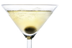 Cocktail with olive Royalty Free Stock Images