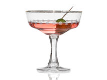 Cocktail with olive Stock Photo