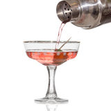 Cocktail with olive royalty free stock photo