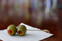 Cocktail olives Stock Images