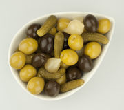 Cocktail olives Royalty Free Stock Photography