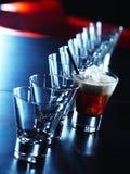 Cocktail op een lijst Stock Foto