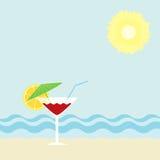 Cocktail op een strand Stock Foto