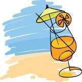 Cocktail op het strand Stock Fotografie