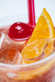 Cocktail with orange and cherry Royalty Free Stock Photography