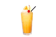 Cocktail with orange and cherry Royalty Free Stock Photo