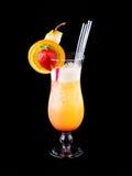 Cocktail Orange crush. Isolated on black stock images