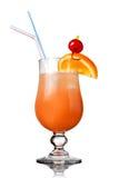 Cocktail orange d'isolement sur le blanc photos stock