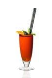 Cocktail orange dans une glace Images stock