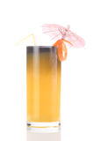 Cocktail of orange juice. On a white background royalty free stock image