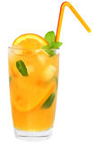 Cocktail with orange juice and ice cubes Stock Photography