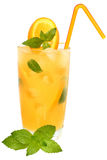 Cocktail with orange juice and ice cubes Royalty Free Stock Images