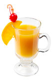 Cocktail with orange juice slice and cherry Stock Photos
