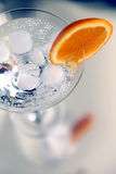 Cocktail with an orange slice. Cocktail decorated with an orange slice Royalty Free Stock Images