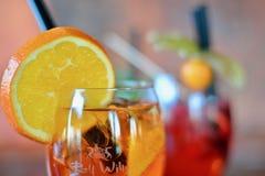Cocktail with orange slice Stock Image