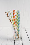 Cocktail paper straws Stock Image