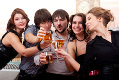 Cocktail party. Young people having fun Royalty Free Stock Images