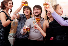 Cocktail party. Young people having fun Royalty Free Stock Photo