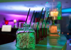 Cocktail party background Stock Images