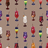 Cocktail party beige seamless vector pattern Royalty Free Stock Images