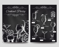 Cocktail party brochure flyers template Royalty Free Stock Photography