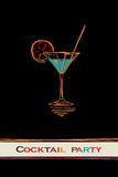 Cocktail party card Stock Photos