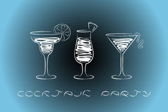 Cocktail party design menu background. Royalty Free Stock Photo