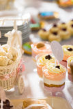 Cocktail party desserts. Cocktail party with variety of desserts Stock Photo