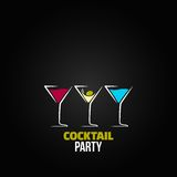 Cocktail party glass design menu background Stock Photos