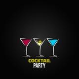 Cocktail party glass design menu background. 8 eps Stock Photos