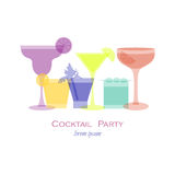 Cocktail party glasses Royalty Free Stock Photography